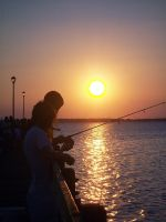 Fishing at Sunset by Leaving-My-Mark