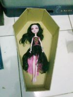 WIP Dracalaura Coffin Bed by seawaterwitch