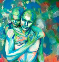Bodypainting - couple I by mihepu