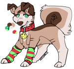 Christmas Pup OTA [CLOSED] by TangerineAdopts