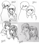 5 years of drawing this again by GREENM00SE