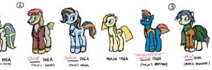 Ikea Pony Family Concepts - NAMING COMPLETE by DocWario