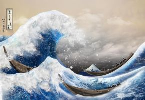 The Great Wave by Ler-ac