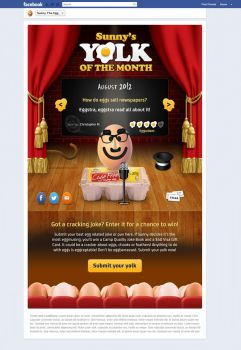 Yolk Of The Month FB App by kipela