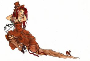 Steampunk Free Bird Colour by Karla-Chan