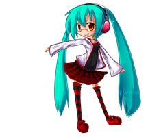 Lucky Miku by AnarchicalMalkin