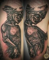 glibber ugly puppet in prog. by 2Face-Tattoo