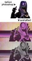 Photoshop, Mass Effect, and Wallpapers by OEmilyThePenguinO