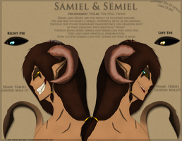 AWJTK Comic Character Sheet - Samiel and Semiel by Sapphiresenthiss