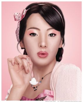 Pink Sugar - Song Hye Kyo by Calaymo
