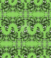 CATCUS Tiled Pattern - Green by Ponix7