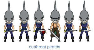 fin dorsal and the Cutthroat pirates by digikevin10