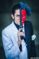 Two Face - Arkham City pose by smile-xvillainco