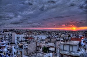 Athens Dusk by GlueR