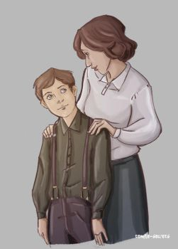 Erik's mother by templesecrets
