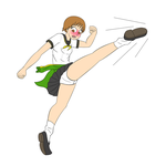 Panty Shot Chie by NormalDeviant