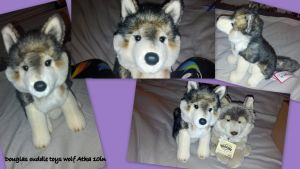 Douglas cuddle toy wolf Atka 10in by Vesperwolfy87