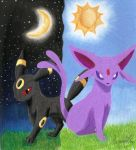 Umbreon and Espeon by GothNebula