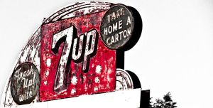 Old 7-Up Sign by SpiiralArt