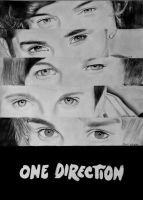 One Direction Pencil Drawing by morningcoffeebreak