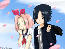 Sasuke And Sakura Love by MySweetArte