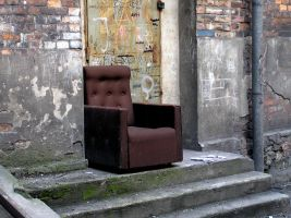 Armchair in yard in Katowice by michal1995
