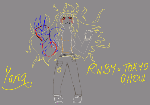 RWBY x Tokyo Ghoul - 4 WIP by FightStorm