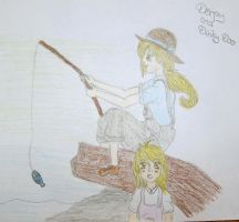 Mother and daughter by the sea - Derpy and Dinky by StrawberrySprinkle