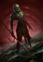 Captain Ahab, the drowned zombie by willpheonix