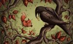 The Fox and the Crow web by Evanira