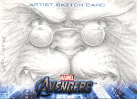 Avengers Assemble Sketchcard - Beast by theopticnerve