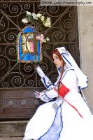 Esther with stained glass by aimeekitty