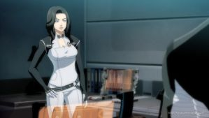 Mass Effect anime style Miranda by virak
