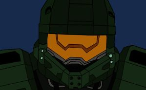 Master Chief flat by GamerZzon