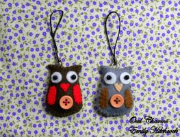 Owl Charms by EmilyHitchcock