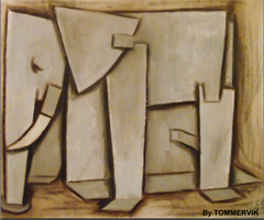 ELEPHANT ABSTRACT by TOMMERVIK