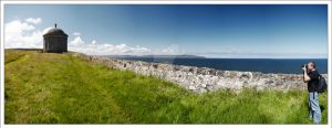 Mussenden Temple View by DL-Photography