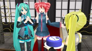 MMD Happy 6th Birthday Miku!!! by Myrisakura