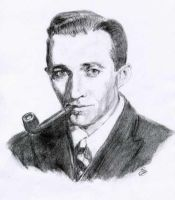 Bing Crosby:Charcoal drawing by eidde1