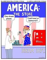 Liberal American Dream cartoon by Conservatoons