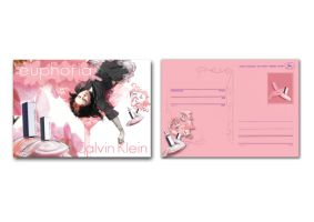EUPHORIA post card two  sides by PollyWaiseburd