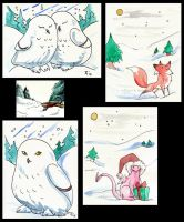 Winter Greeting Cards by Verdego