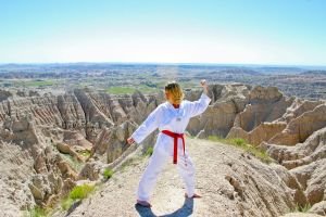Taekwondo in the Badlands!!! by ilovelegolas