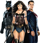 Batman, Wonder Woman, and Superman 2 PNG by nickelbackloverxoxox