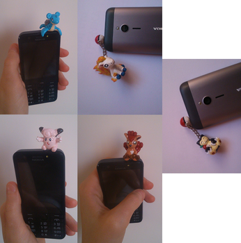 1st Generation Pokemon Charms, Dust Plugs, Figures by MariC217