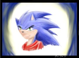 Anthro-ish sonic by ChaserTech