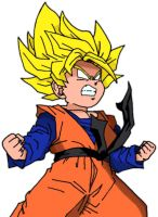 Goten SS by LordAche colored by NightmareSaber