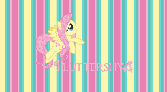 Fluttershy Wallpaper Striped by StrawberryHollow