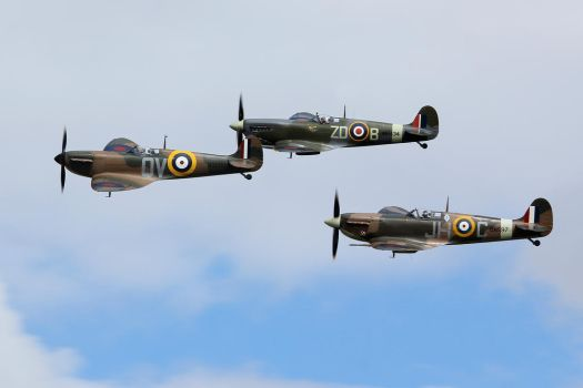 Spitfire Trio by Daniel-Wales-Images