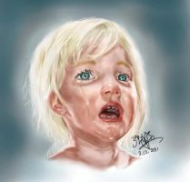 Crying baby girl by chaseroflight